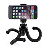 Zecti Flexible Cellphone Tripod with Smartphone Holder Mount for SLR Digital Camera, Gopro, iPhone Samsung Galaxy S6 Edge