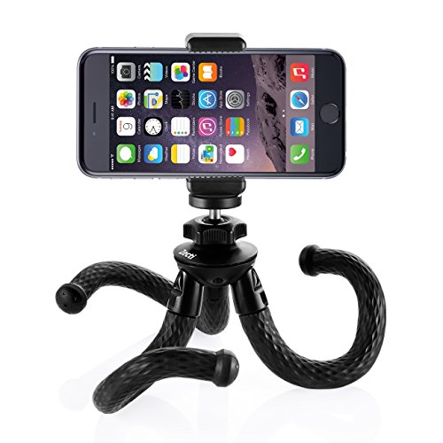 Zecti Flexible Cellphone Tripod With Phone Mount Adapter For Slr Digital Camera  Gopro  Iphone