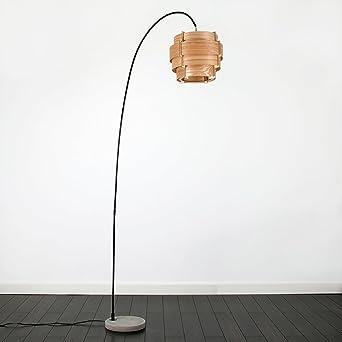 Stehlampe Mit Zylinder Lampenschirm Und Fuss Aus Zement Modernes
