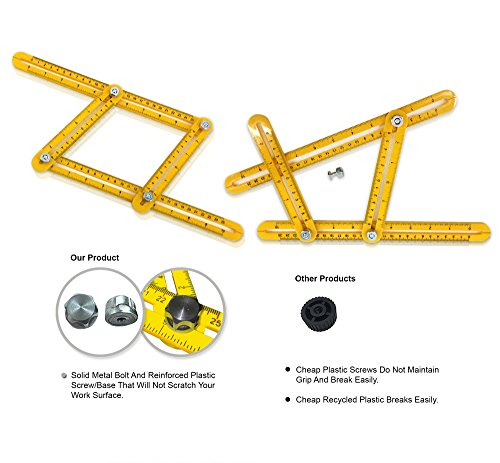 NEW Angleizer Template Tool, WITH Steel Bolts, More Durable, Great For Measuring All Angles, Quick and Easy To Use, Multi-Angle Measuring Tool, For Engineers, Handymen, Builders, Craftsmen, by - Store Locator Alloy
