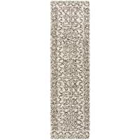 Safavieh Hudson Shag Collection SGH376A Ivory and Grey Runner (23 x 8)