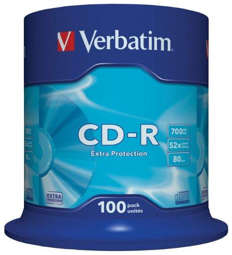 Verbatim 43411  CD-R 52x 100-pack   Optical Media