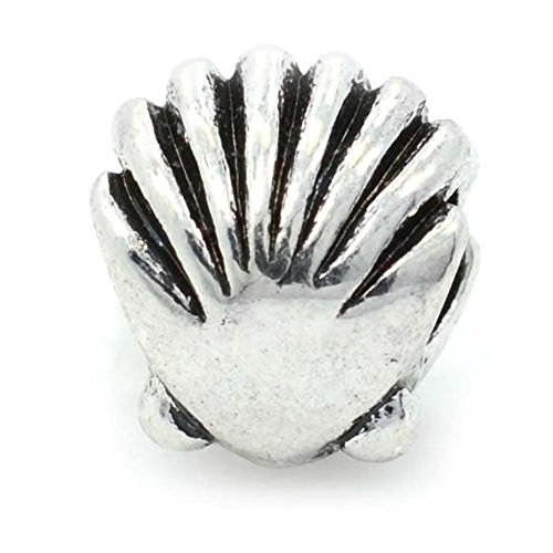 Pro Jewelry Seashell Charm Bead Compatible with European Snake Chain Bracelets -