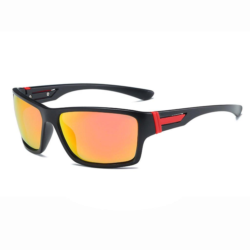 LX-LSX Polarisierte Sonnenbrille Sport Reiten Fahren Outdoor Bergsteigen Anti-Glare Anti-Augen-Müdigkeit Sichtfeld Clear Mirror (Farbe   schwarz Frame ROT Lens)