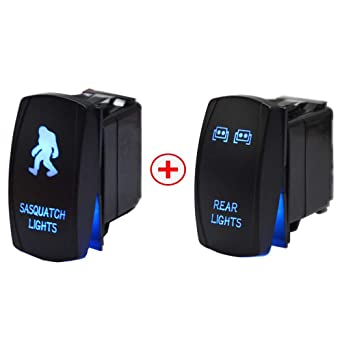 Universal Cars Lamp LED Light Laser Rocker Switch For UTVs Boats Can Am Polaris
