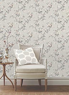 Fine Decor Chinoiserie Floral Wallpaper Stone (FD40764)