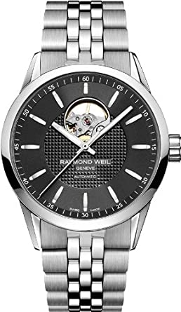Raymond Weil Men's 'Freelancer' Swiss Automatic Stainless Steel Dress Watch, Color:Silver