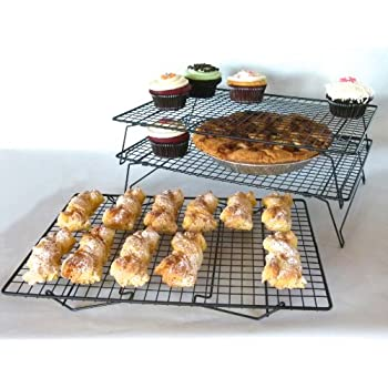 Sunflair Professional Grade 3 Tier Cross Grid Cooling Rack (set of 3)