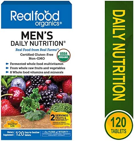 Country Life Men's Daily Nutrition - 120 Easy to Swallow Tablets - May Help Support Daily Nutritional Needs - Contains Whole Raw Fruits & Vegetables - Non GMO - Gluten-Free