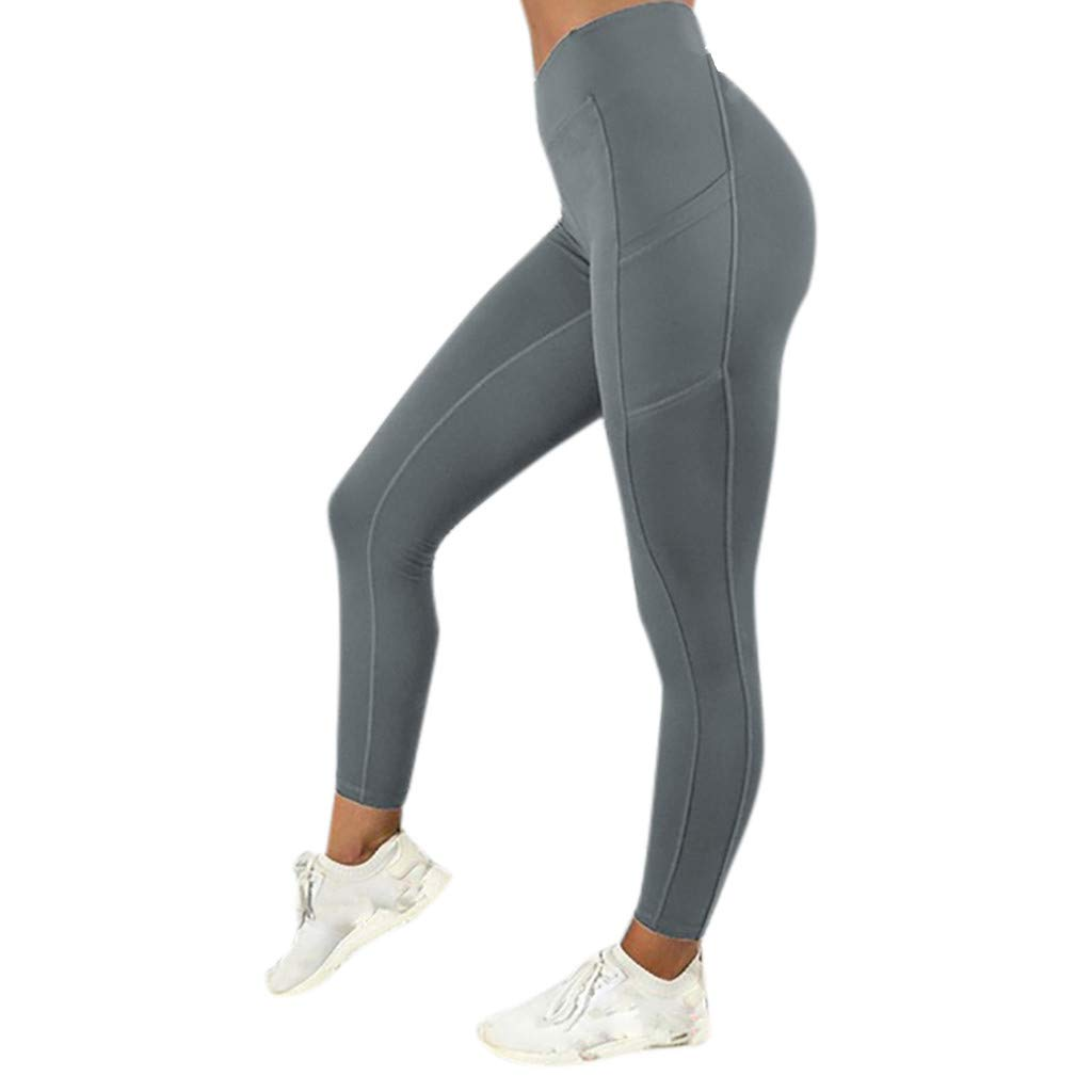 9cf6718dadab OHQ Mallas Deportivas Mujer Leggins Yoga Pantalon Elastico Cintura ...