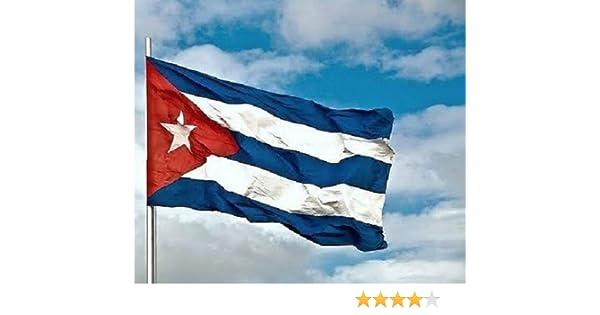 BANDERA CUBA GRANDE 150 Cm 1,5 Metros en TELA con GUIA bandera ...