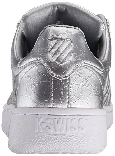 GLD Classic Foil White K Aged Rose Vn Low WoMen White Top Silver Swiss Sneakers fwTTqnExv