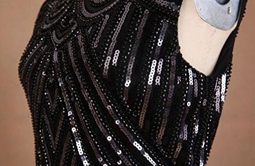 Sequin Falda Costume Latin elastic10cm Black chest 78cm Lombard Black Striped Stage Dance Banquet Myll Sexy Tassel white B5wqwH4