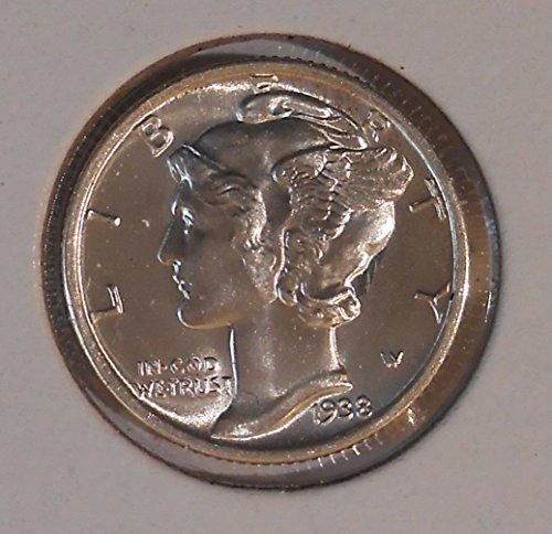 1938 90% Silver Mercury Dimes GEM BU .10c Dime Choice Brilliant Uncirculated ()