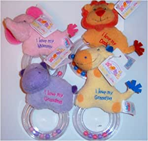 Baby GUND Plush Ring Rattle (Orange Lion)