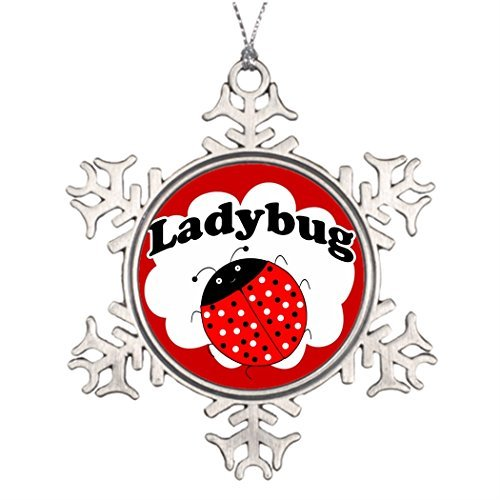 Metal Ornaments Xmas Trees Decorated lady bug Personalised Christmas Decorations (Chrome Lady Hood Ornament compare prices)