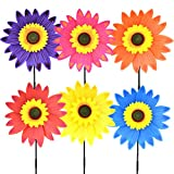 Fansport Wind Spinner Sunflower Lawn Pinwheels Windmill Party Pinwheel Wind Spinner Patio Lawn & Garden