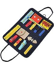 Toddler Upptagen Styrelse, Sensory Board för att utveckla grundläggande färdigheter och fina motoriska färdigheter, förskola leksak för barns handväska