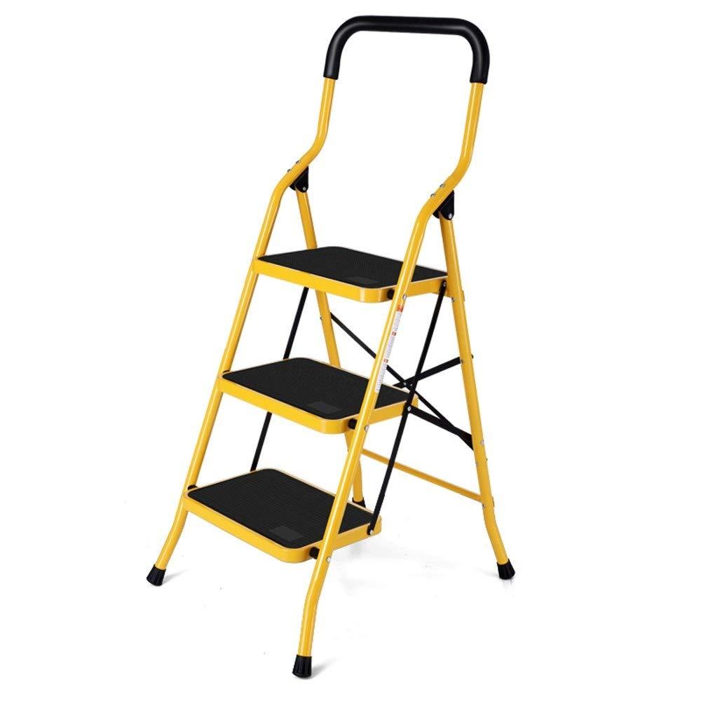 1058 YYHSND Portable Three-step High Stools Home Multi-function Stool Folding Telescopic Mini Ladder Step stool