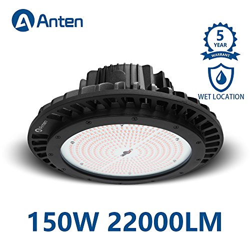 (Anten High Bay UFO LED Light 150W 22000LM (600W MH Equivalent) 4000K IP65 Waterproof Industrial Grade Warehouse Gym Hanging Light Workshop Lamp CE)
