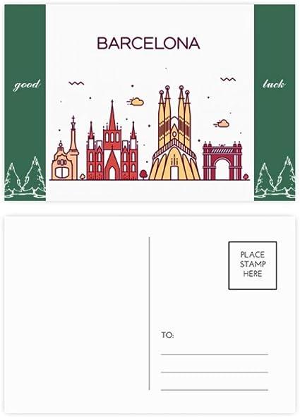Barcelona España - Juego de tarjetas postales (20 unidades), diseño de paisaje: Amazon.es: Oficina y papelería