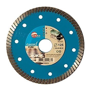 Leman 930115 Disco de Diamante para porcelá nico (diá metro 115 mm), Azul, 115 x 22,23 mm