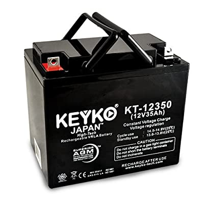 Dual-Lite 12779 12V 35Ah SLA Sealed Lead Acid AGM Rechargeable Replacement Battery Genuine KEYKO (W/ L2 Nut & Bolt Terminal)