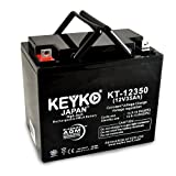 Everest & Jennings Kid Power Battery 12V 35Ah Fresh & REAL 35.0 Amp AGM/SLA Rechargeable Replacement Designed for Wheelchair - Genuine KEYKO - Nut & Bolt L2 Terminal