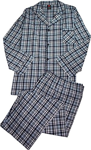 Blue & Green Plaid mens Woven Pajamas - Size ()