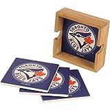 Memory Company MLB Toronto Blue Jays MLB-Tbj-2403Square Coaster Set, Multi, One Size