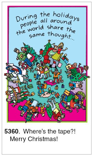 Oatmeal Studios Humorous Christmas Cards and Envelopes, Where's The Tape, 26-Count (Pack of 2)