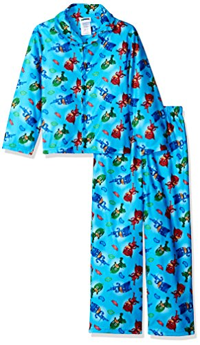 AME Little Boys' Pj Masks 2-Piece Pajama Coat Set, Blue, 4