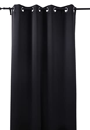 Curtains Ideas 86 inch curtain panels : Amazon.com: Deconovo Black Thermal Insulated Blackout Panel ...