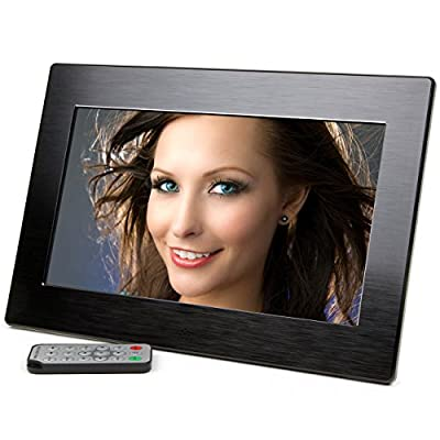 Micca 10-Inch Wide Screen High Resolution Digital Photo Frame with Auto On/Off Timer (Black) (2016 Model)