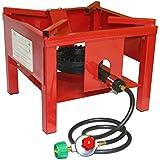 Portable Outdoor Propane Burner Cooker Stand, 4' Hose/regulator – 65000 BTU, CSA