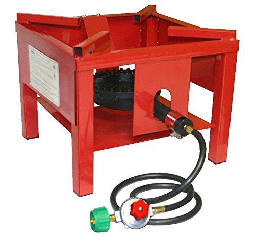 Martin Portable Outdoor Propane Burner Cooker Stand Regulator 4' Hose 65,000 BTU/Hour