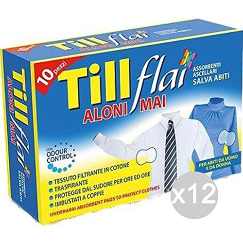 Unique Till Flai Set 12/x 10/Absorbant axillaire hygi/ène Intime f/éminine Multicolore