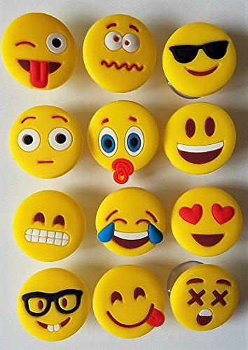 Emoji Charms with Suction 12 Pack, Perfect Markers for Everything from Wine Glass to Red Cups! Lifetime by Lifetime Inc (Image #8)