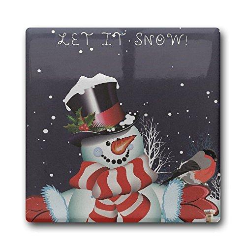 creative-let-it-snow-snowman-logo-diy-printed-square-coasters-cork-ceramic-coasters-for-kitchen-dini