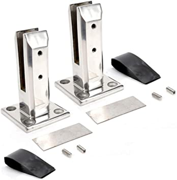 LukLoy SS304 Glass Railing Spigots Stairs Balustrade Balcony Fence Glass Clamps