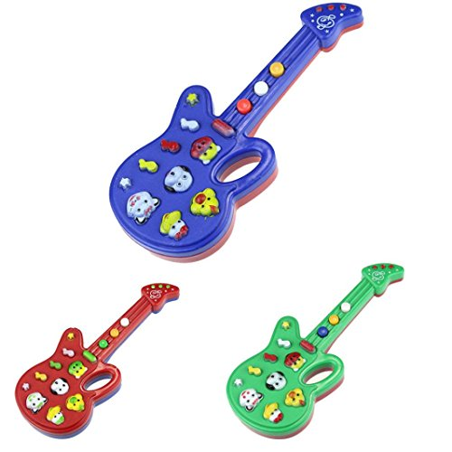 Iusun Electronic Guitar Toy Nursery Rhyme Musical Toy Kids Children Educational Toy Gift (Random)
