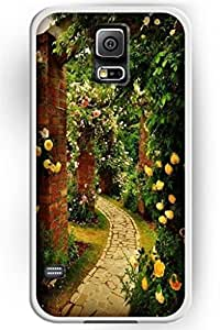 SPRAWL Beautiful Flower Design Hard Shell for Samsung Galaxy S5 Hard Plastic Back Case Floral -- Beautiful Flower Path