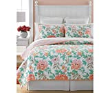 Martha Stewart 3 Piece 100% Cotton Quilt and Sham Set - Village Peony Full/Queen