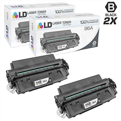 LD Remanufactured Toner Cartridge Replacement for HP 96A C4096A (Black, 2-Pack)