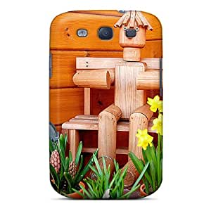 Cute Tpu Lynutchins Wooden Man Case Cover For Galaxy S3