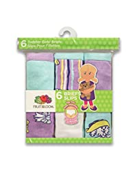 Fruit of the Loom Toddler Girl's 6-Pack Brief
