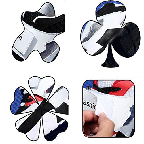 Zapatillas de deporte Athletic Hombre Monk-correas de la manera del vestido ocasional de la manera respirable que viaja corriendo los zapatos de la UE Tamaño 36-43 White