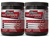 energy boost caffeine free - PURE GLUTAMINE POWDER 4,500MG - l-glutamine bcaa - 2 Bottle (600g)