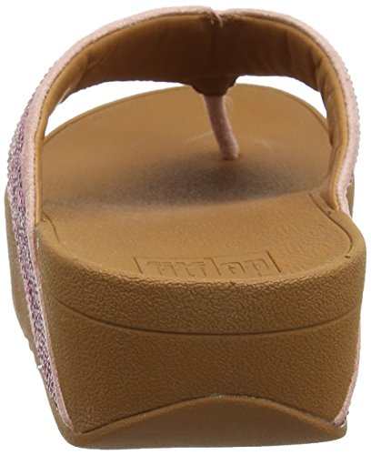 Fitflop Ritzy Toe-Thong Sandals, Sandalias con Punta Abierta Para Mujer Pink (Dusky Pink)