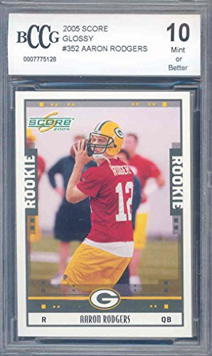 2005-score-glossy-352-aaron-rodgers-rookie-bgs-bccg-10-graded-card